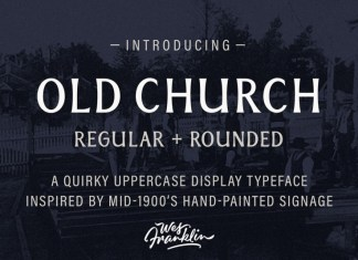 Old Church - Serif Display font