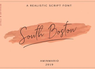 SOUTH BOSTON | REALISTIC SCRIPT Font