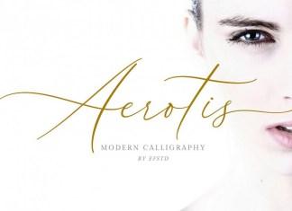 Aerotis, a Modern Calligraphy Font