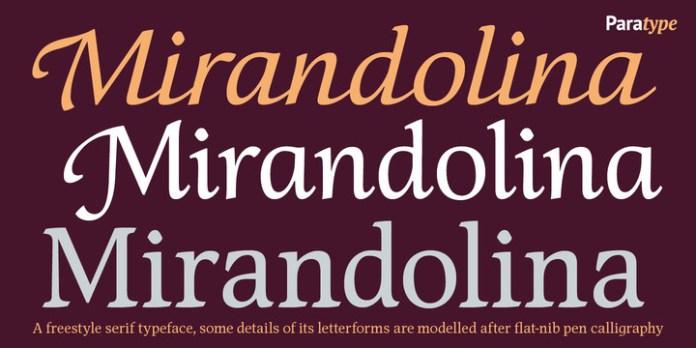 Mirandolina Font Family