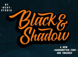 Black & Shadow Font Script Font