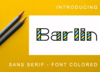 Barlin Colored Font