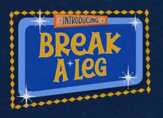 Break a Leg Font
