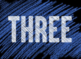 Threemore font