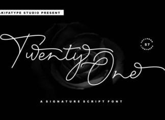 Twenty One Script Font