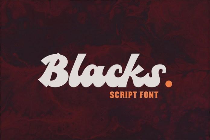 Blacks Script Font