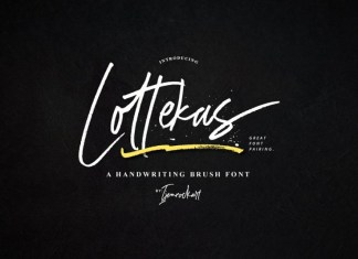 NEW | Lottekas Brush Font