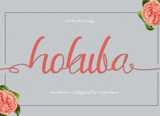 Hokuba Script Font