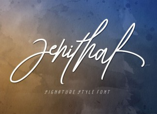 Zenithal Script Font
