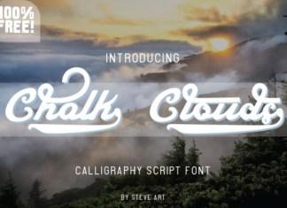 Chalk Clouds Font
