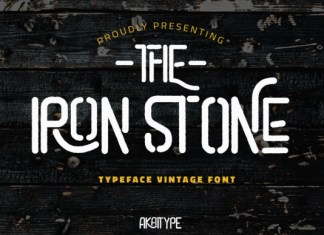 The Iron Stone Font