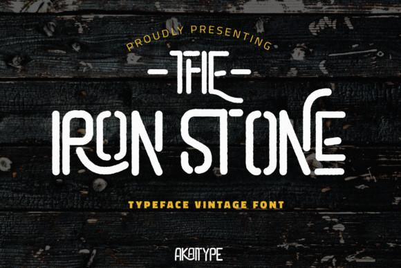 The Iron Stone Font