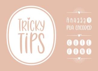 Tricky Tips Font