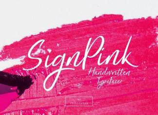 SignPink Font