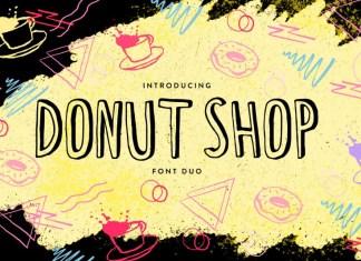 Donut Shop Font Duo