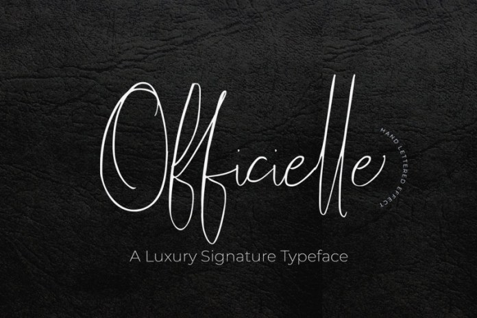 Officielle | Lovely Signature Font