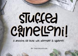Stuffed Cannelloni Font