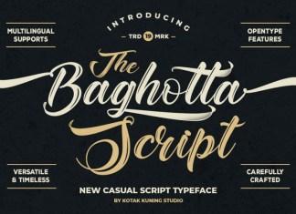 The Baghotta Script Font