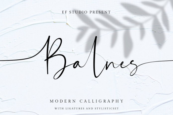 Balnes   Modern Script