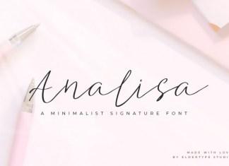 Analisa Signature Font