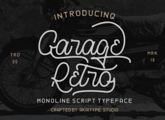Garage Retro Script Font