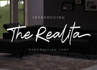 The Realita Script Font