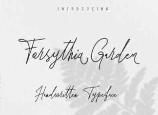 Forsythia Garden Font