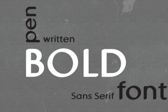MD Pen Bold Font