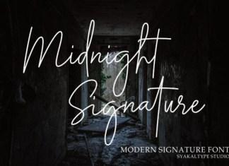 Midnight Siganture Font
