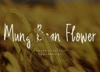 Mung Bean Flower Font