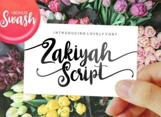 Zakiyah Font