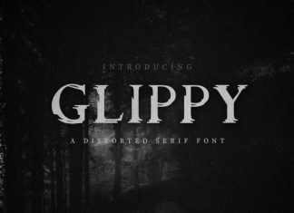 Glippy Industrial Font