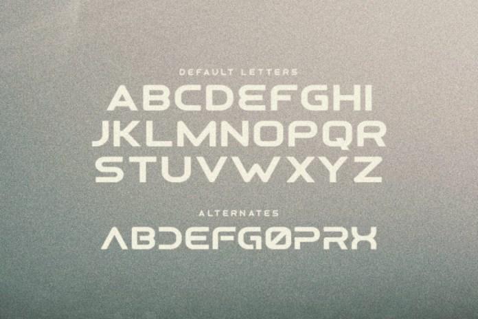 Osiris - Futuristic Font