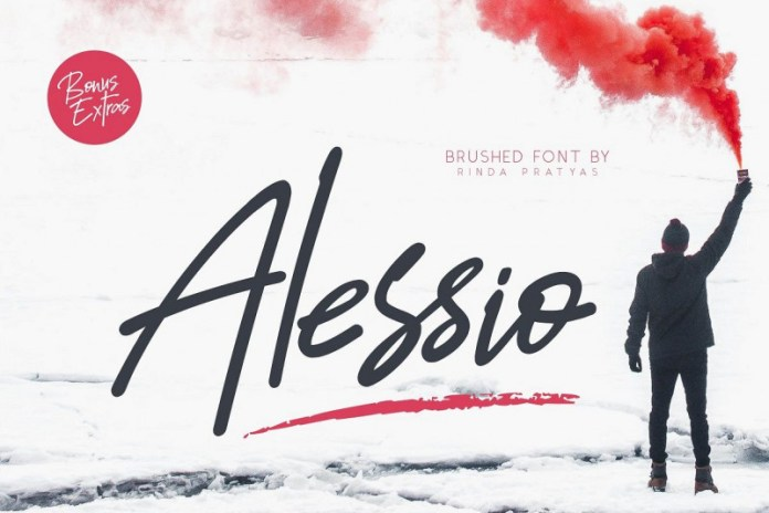 Alessio Brushed Script Font