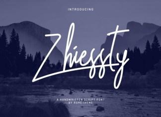 Zhiessty Signature Font