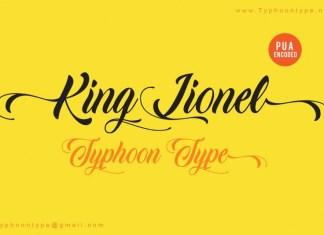 King Lionel font
