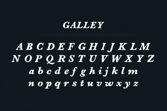 Galley Font + Logo Badges