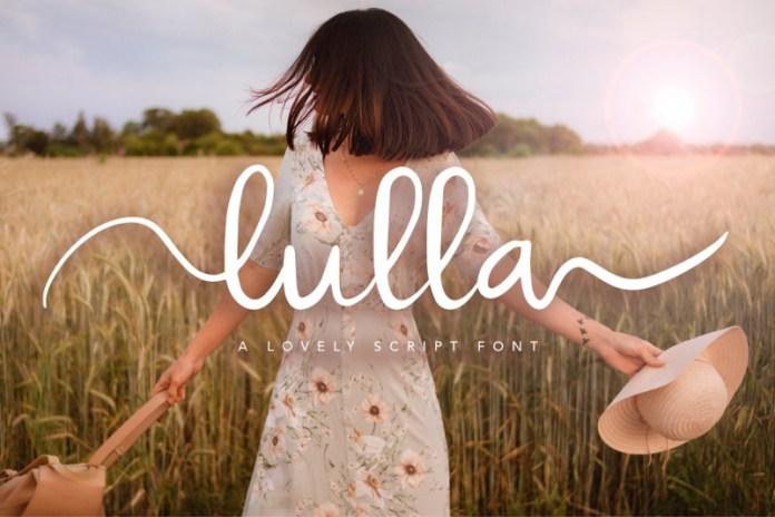 Lulla Font - A Lovely Script Font