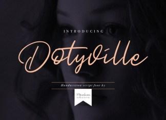 Dotyville Script Font