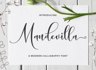 Mandevilla Script Font