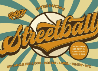 Streetball | Vintage font