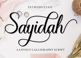 Sayidah Lovely Script