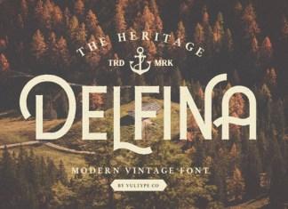DELFINA - Vintage Font