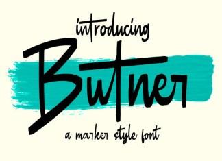 Butner - Marker Font