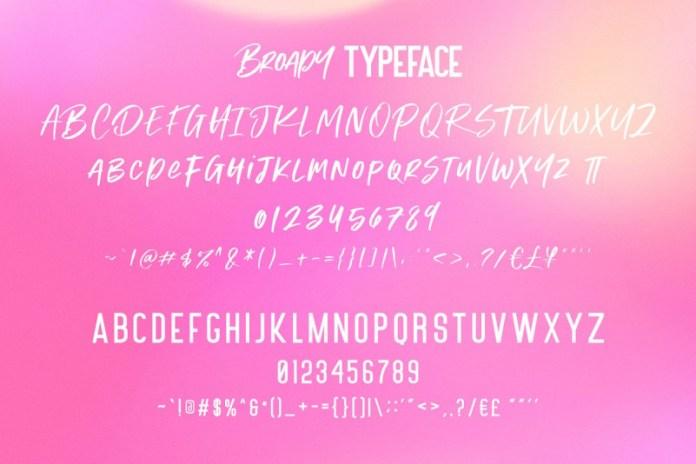 Broady Brush Font