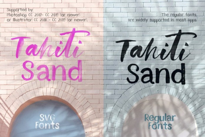 Tahiti Sand. Fonts and Graphics.