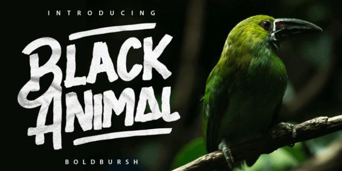 Black Animal Font Family