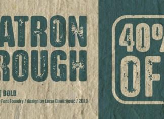 NATRON Rough Font Family