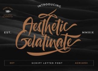 Aesthetic Gelatinate Font