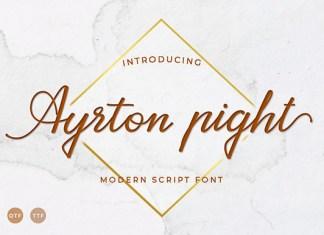 Ayrton Pight Font